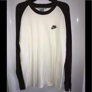 Men's Nike XXL shirt long sleeve brown/white